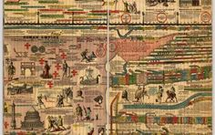 """A twenty three foot long chart showing 5,885 years of history from 4004 B.C.. to 1881 A.D. First issued in 1871, Adams put out several edit..."