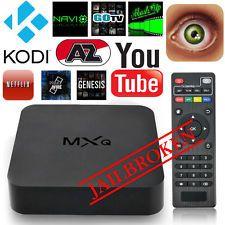 MXQ Android Quad-Core WiFi HDMI Smart TV Box Media Media Streaming - Home Network Media, Media Input Connectivity - Ethernet, Features - Picture Viewing, Max. Netflix, 4k Hd, Hd 1080p, Smart Tv, Quad, Wi Fi, Xbmc Kodi, Cable Tv Box, Mini Pc