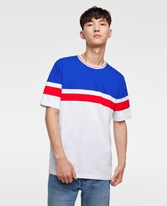 Sport Street Style, Cool T Shirts, Casual Shirts, Zara Man, Fashion Sketches, Casual Wear, Color Blocking, Menswear, Mens Fashion