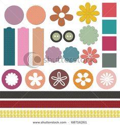 scrap book Design Elements