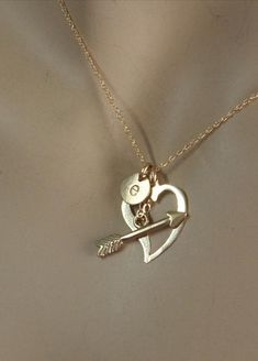 14k Heart and Arrow Initial Necklace, 14k Solid Gold, I love You, Heart and Arrow Necklace[Picked from ETSY] A heart and arrow necklace in solid 14k gold- what could be sweeter than to add the initial of your lover, or children who have captured your heart? Impress Me Jewelry, jewelry that says: I'm Me! Pendent […]