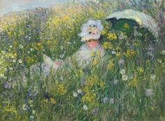 Dans la prairie - Argenteuil : Claude Monet, 1876