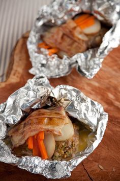 Paula Deen's Hobo Hamburgers - perfect for camping, just throw on the campfire for an easy to clean-up supper!