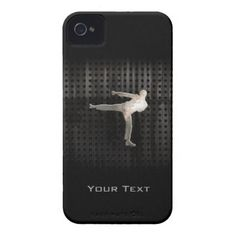 """Cool Martial Arts Case-Mate iPhone 4 Cases:  Cool grunge industrial metal look martial arts karate kickboxing taekwondo kick """"Tae Kwan Do"""" design. Great for gifts! Available on tee shirts, smart phone cases, mousepads, keychains, posters, cards, electronic covers, computer laptop / notebook sleeves, caps, mugs, and more! Visit our site for more custom gifts.  #martialarts #karate #taekwando #iphonecase"""