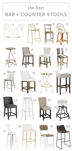 Hunting for a bar stool? I spent months picking ours and have rounded up alllll … Hunting for a bar stool? I spent months picking ours and have rounded up alllll the good ones for you! Kitchen Stools, Counter Stools, Cool Bar Stools, World Market Dining Chairs, Dressing Table With Stool, Wrought Iron Patio Chairs, Metal Chairs, Stools With Backs, Adirondack Chairs For Sale