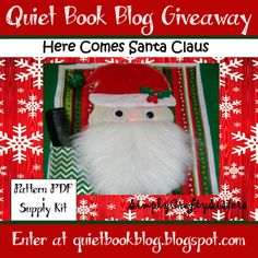 Enter 10/19-10/26 to win! Christmas Quiet Book Kit Giveaway