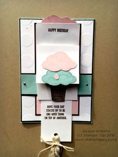 stampin up sprinkles of life pool party waterfall card