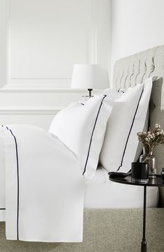 The white company luxus-savoy bettbezug. Cozy Bedroom, White Bedroom, Home Decor Bedroom, Bedroom Furniture, Master Bedroom, Master Suite, Bedroom Ideas, Bedroom Apartment, Bedroom Country