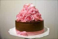 Chocolate, Pistachio and Rose Cake