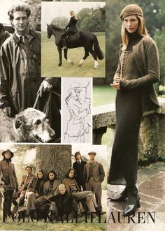 Tony Bruce, Cecilia Chancellor, Sarah O'Hare and John Rawlinson for Ralph Lauren, Fall/Winter 1994 Tweed, Ralph Lauren Style, Polo Ralph Lauren, Old Money, Equestrian Style, Looks Style, Mode Outfits, Preppy Style, British Style