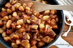 This skillet home fries recipe is more than just a morning side dish. Well-seasoned and crispy, these taters are great for breakfast, lunch and dinner!