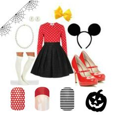 Don't leave your Halloween costume incomplete! Get the complete look with Jamberry Nails! How cute is this Minnie Mouse costume?!?!