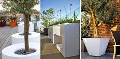#white #planters