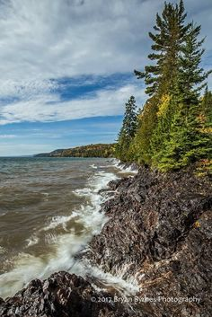 Fall splendor on the rugged Lake Superior shoreline, a few miles east of Bete Grise.