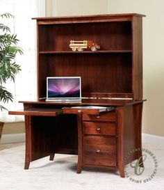 Give your student a sturdy place to get their work done with a classic hutch top desk in your choice of solid hardwood.