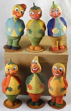 Vintage German Halloween Candy Containers
