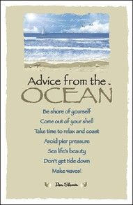 advice from the ocean poster | Rocket and Roses Vegan Kitchen: Advice from the ocean...