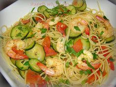 Spaghetti with Zucchini & Shrimp 1, edited by Couscous & Consciousness, via Flickr