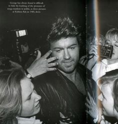 George with fans.