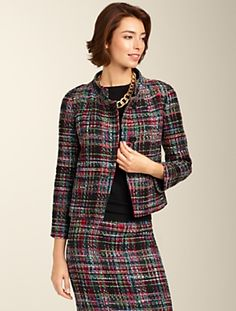 Yeah I bought this suit today! Talbots - Talbots Jackie Fit Colorful Tweed Jacket | New Arrivals | Apparel