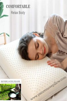 Natural Latex Pillow with Ventilated Latex Foam for the best sleep you deserve. Latex Foam Pillow, Foam Pillows, Natural Latex, Best Pillow, Bed Mattress, Queen, Head And Neck, Good Sleep, Reduce Stress