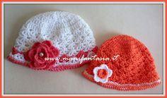 tutorial come fare un cappellino uncinetto per bimba 40a98b862a9b