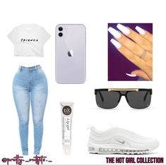 Black Girl Fashion, Pretty Outfits, Black Nikes, Skinny Jeans, My Style, Baddie, Fitness, Polyvore
