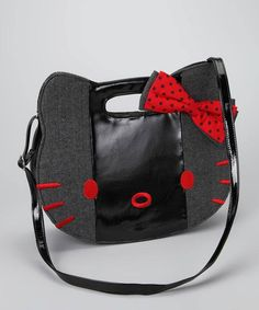 1df45160e0 New With Tag Gray   Red Hello Kitty Herringbone Bag Hello Kitty Purse