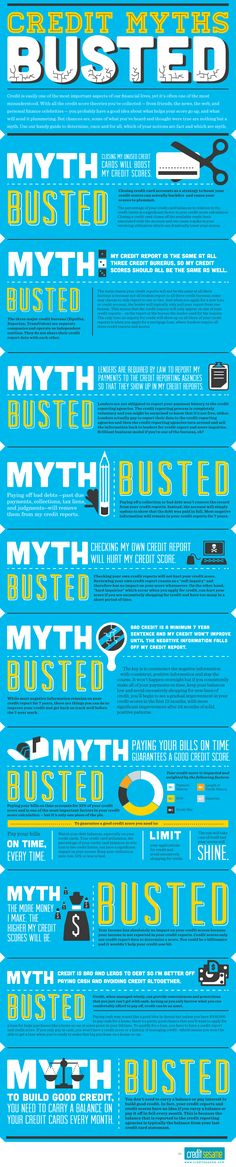 Rebuild your credit score faster by knowing fact from fiction.