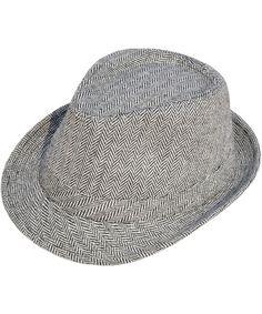 549946a7c589a Men   Women s Short Brim Manhattan Trilby Fedora Hat Black  White  CJ188ZD89ZO - Hats