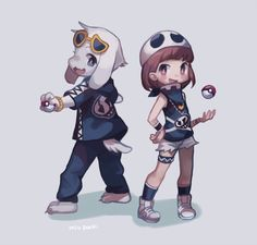 Asriel and Chara would like to battle! | ミウパチ (@m8um8u) | Twitter
