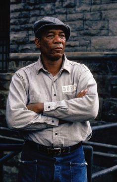 Morgan Freeman, The Shawshank Redemption. One of my favorite actors in one of my favorite movies. The best voice in film! Iconic Movies, Classic Movies, Great Movies, The Shawshank Redemption, Films Cinema, Black Actors, Morgan Freeman, Movie Characters, Best Actor