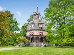 45 W Clinton Ave, Irvington, NY 10533 | Zillow Victorian Dollhouse, Victorian Homes, Victorian Interiors, Irvington New York, Casa Octagonal, Nyc Train, Octagon House, Old Houses For Sale, Second Empire