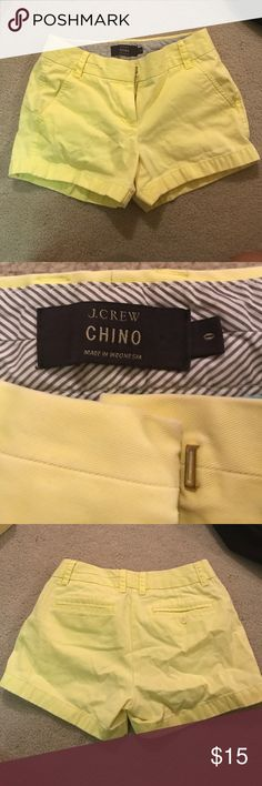 """JCREW Women CHINO Shorts 3"""" Size 0 Perfect style, length, and color for the summer! In good condition, only worn a few times, no stains or damage J. Crew Shorts"""