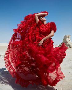 fbfe1a24c48669 yasmine by @gregswalesart harper's bazaar arabia #pierpicks Dope Fashion,  Fashion Poses, Red