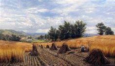 sarrasin récolte été , Huile de Jean-François Millet (1814-1875, France)