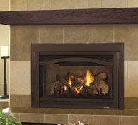 Heat & Glo Grand-I35 The Grand-I35 is the largest of the gas metal inserts. It is highly-efficient and ideal for larger hearth openings. Intricately-detailed logs and glowing embers add authentic ambiance to the Grand's impressive heating power.