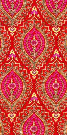 Gorgeous red and pink free iphone wallpaper background design. Surface Pattern, Pattern Art, Surface Design, Pattern Design, Gold Pattern, Diamond Pattern, Indian Textiles, Indian Fabric, Indian Prints