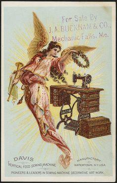Davis vertical feed sewing machine, pioneers & leaders in sewing machine decorative art work. (front)   Flickr: partage de photos!