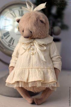 Купить Снегурочка - мишка, мишки тедди, тедди, зима, снегурочка, мишка девочка, teddy