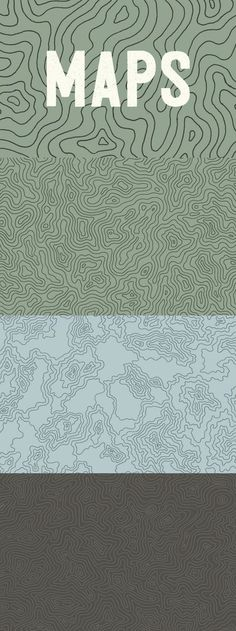Elevation Maps Topographic Elevation Maps - This hand-illustrated set of three topographic maps draws inspiration from the.Topographic Elevation Maps - This hand-illustrated set of three topographic maps draws inspiration from the. Logo Typo, Map Logo, Typography, Topography Map, Desing Inspiration, Ecole Art, Map Design, Font Design, Hand Illustration