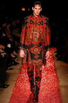 The Menswear Fall 2015 Trend Report - Givenchy - pattern on pattern