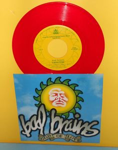 "BAD BRAINS god of love , long time 7"" Record RED Vinyl #766 of ? pressed #punk"