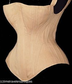1840s corset with s curved wooden busk from ebay