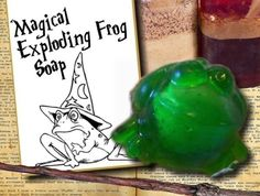 EXPLODING FROG SOAP Party Favor with card tag attached - Great for party favors - Harry Potter fans on Etsy, $3.00