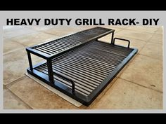 This rack is part of for my other DIY project the 55 Gallon Drum Barbecue/Smoker. Bbq Grill Diy, Grilling, Bbq Diy, Grill Party, Outdoor Bbq Kitchen, Outdoor Kitchen Design, Outdoor Barbeque, Parilla Grill, Brick Grill
