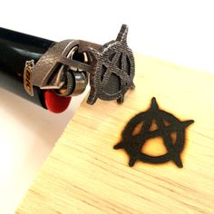 Anarchy Symbol Bic Lighter Branding Iron by niquegeek on Etsy