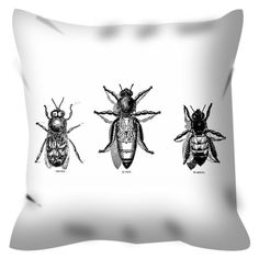 Bee Coloring Pillow By Tinge&Hue