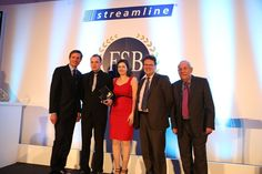Young #entrepreneur category winner Armits Autos with Roger Black, #FSB Chairman, John Allan and Streamline's Head of #SME sales, Robin McKenzie.