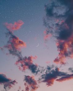 Beautiful night sky iphone wallpaper , iphone background ,phone wallpaper , evening sky, evening sky with crescent moon and stars Night Sky Wallpaper, Cloud Wallpaper, Iphone Background Wallpaper, Tumblr Wallpaper, Galaxy Wallpaper, Nature Wallpaper, Sunset Wallpaper, Iphone Background Vintage, Beautiful Wallpaper For Phone